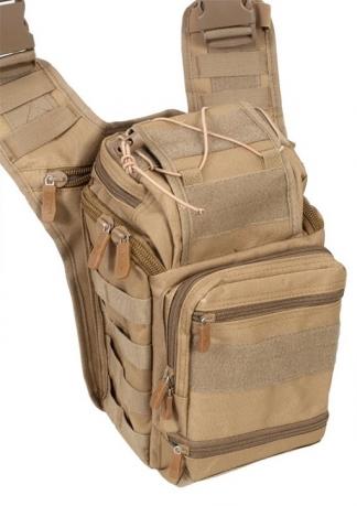 Тактическая сумка через плечо хаки-песок