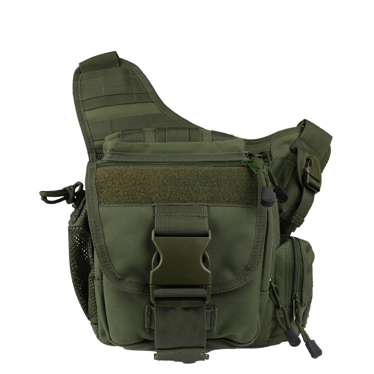 Тактическая сумка на плечо хаки-олива