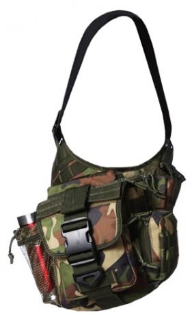 Тактическая сумка на плечо камуфляж Woodland