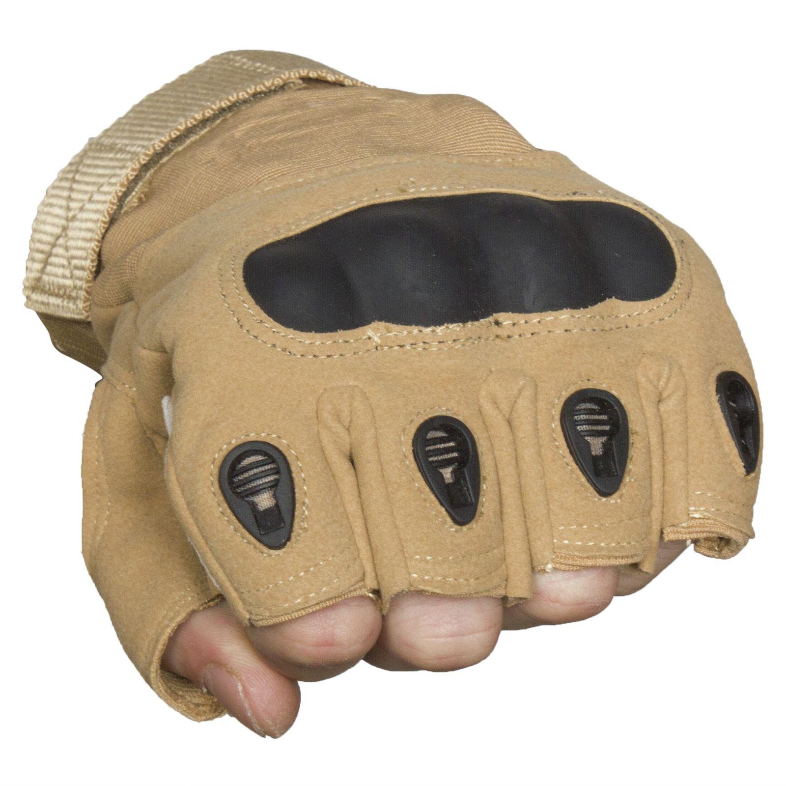 Тактические перчатки без пальцев