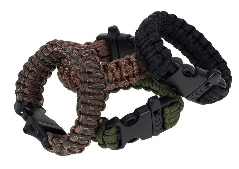 Тактический браслет из паракорда черный-рассцветка