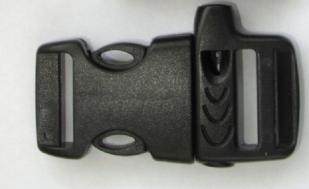 Тактический браслет из паракорда черный-застежка