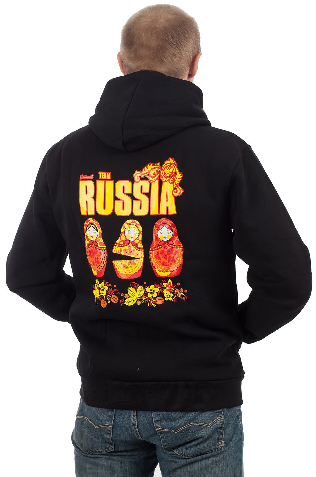 Толстовки, футболки с символикой России