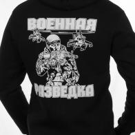 Толстовка «Военный Разведчик» чёрная