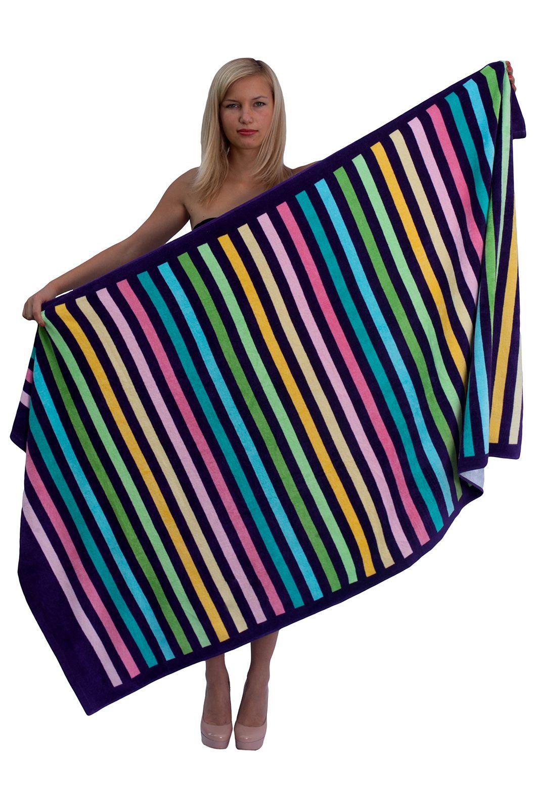 Цветное пляжное полотенце - купить онлайн в интернет-магазине