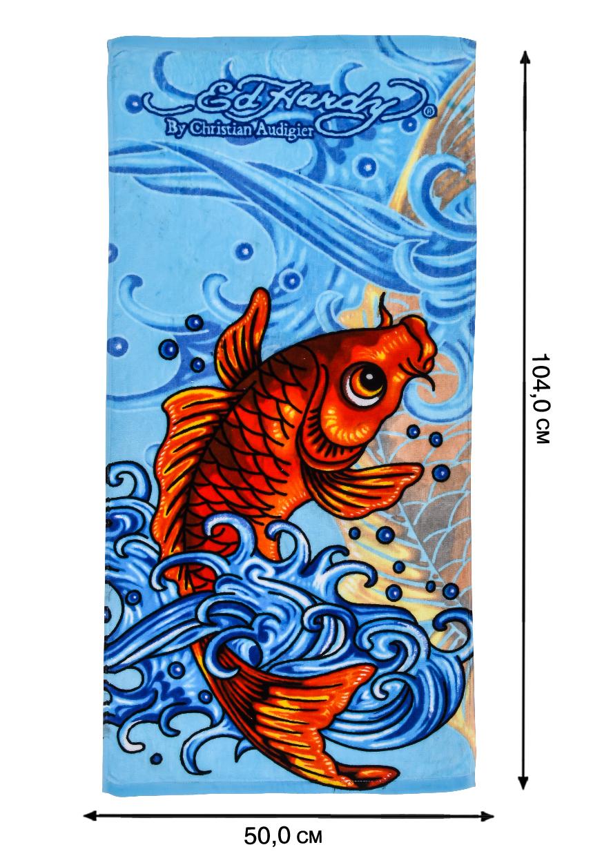 Цветное полотенце с рисунком - купить онлайн с доставкой