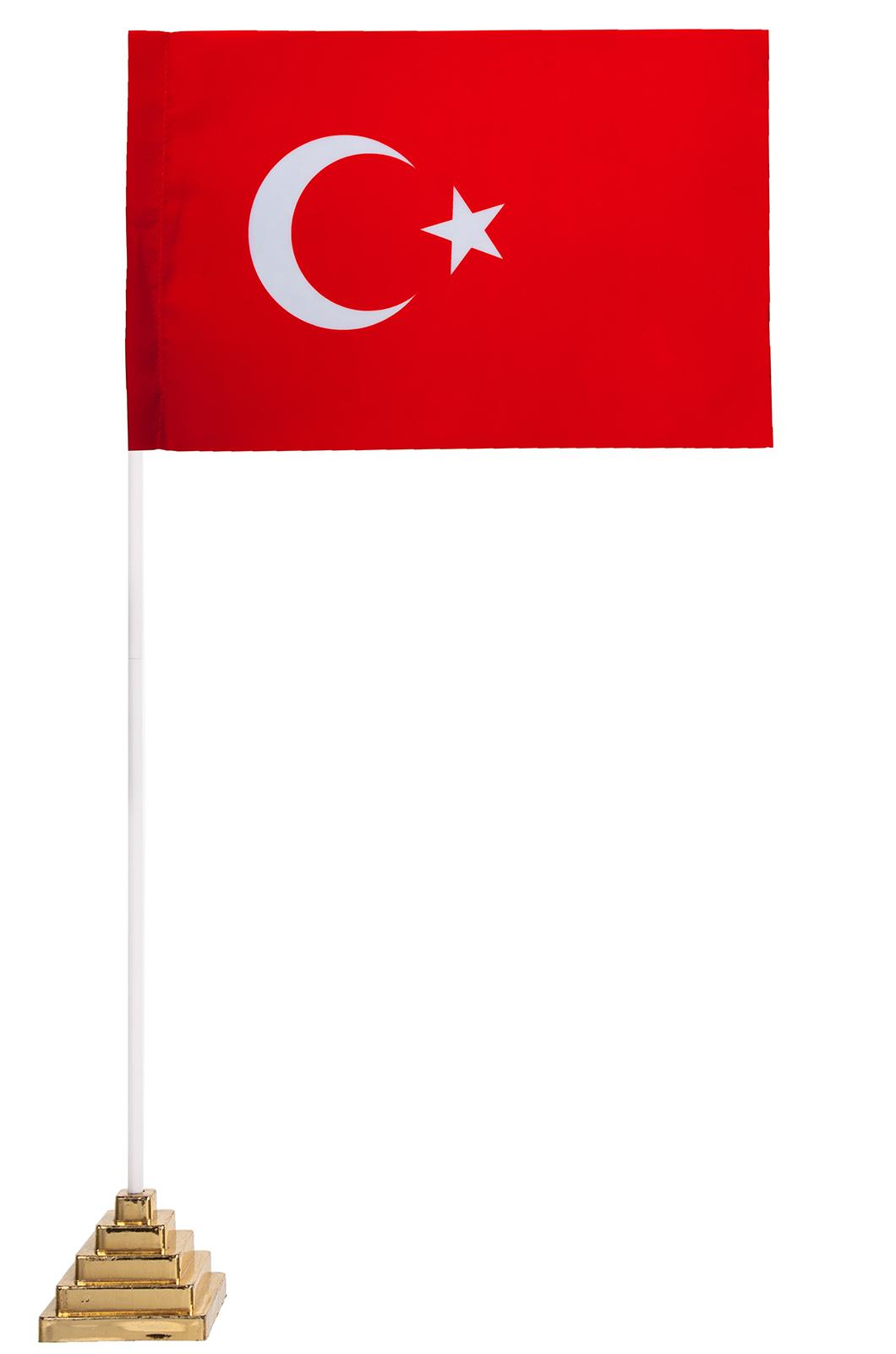 Турецкий флаг настольный
