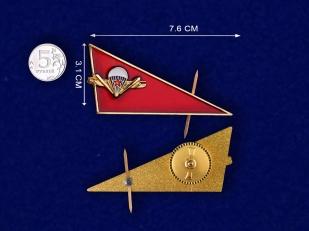 Уголок на берет ВДВ СССР-сравнительный размер