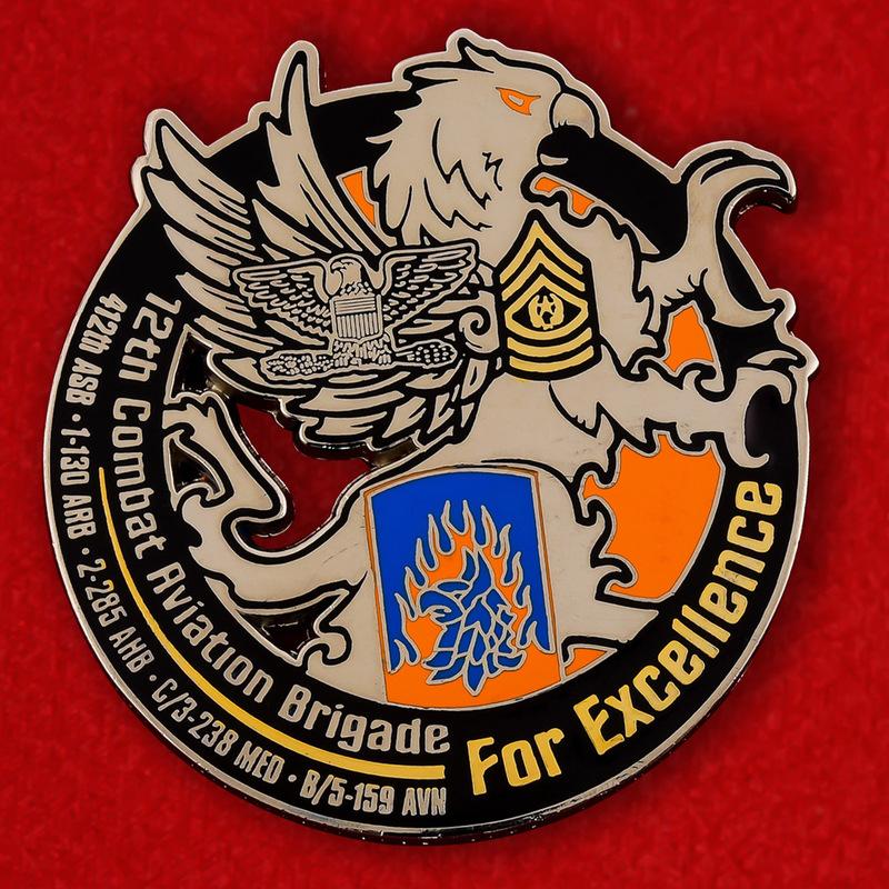 US 12th Combat Aviation Brigade Challenge Coin - obverse