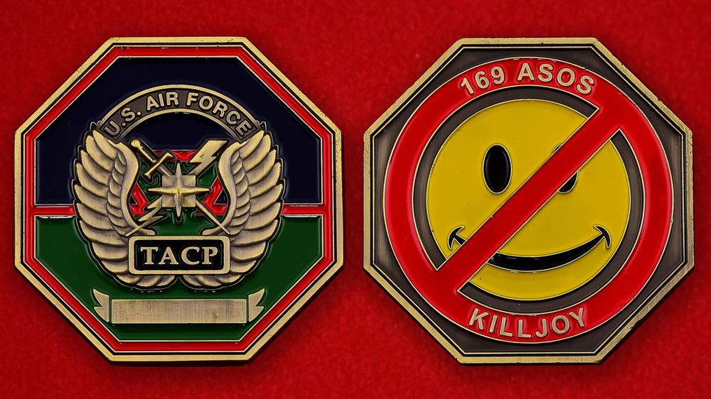 US Air Force 169th ASOS Killjoy Challenge Coin - both sides