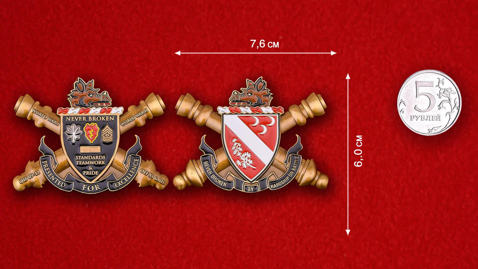 "US Army 7th Field Artillery Regiment ""Never Broken"" Challenge Coin"