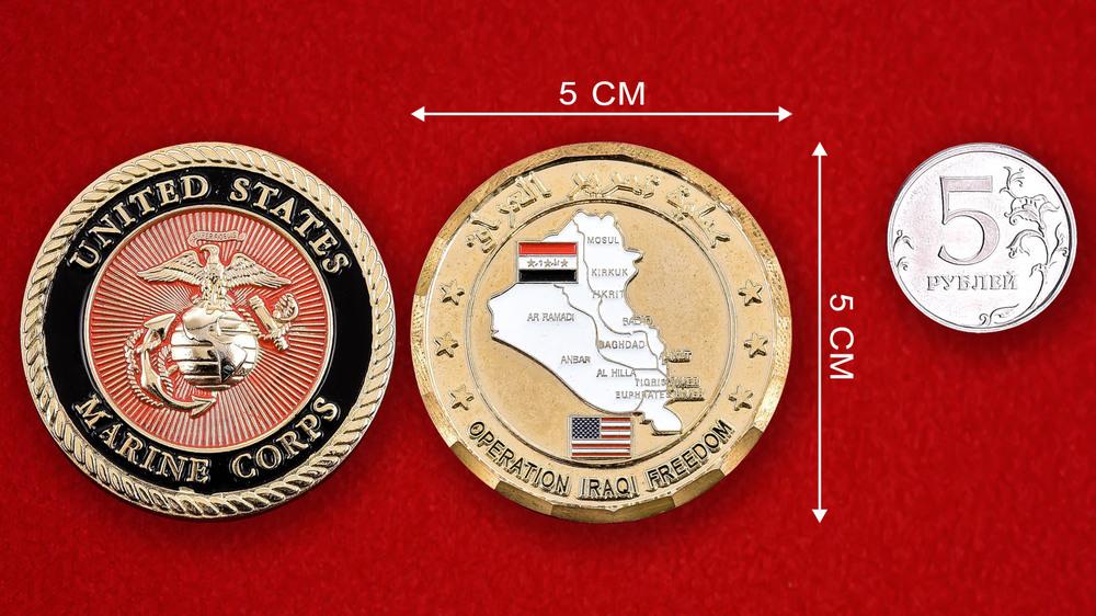 US Marine Corps Operation Iraqi Freedom Challenge Coin