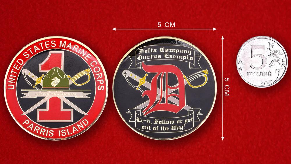 US Marine Corps Parris Island 1st Recruit Training Battalion Challenge Coin