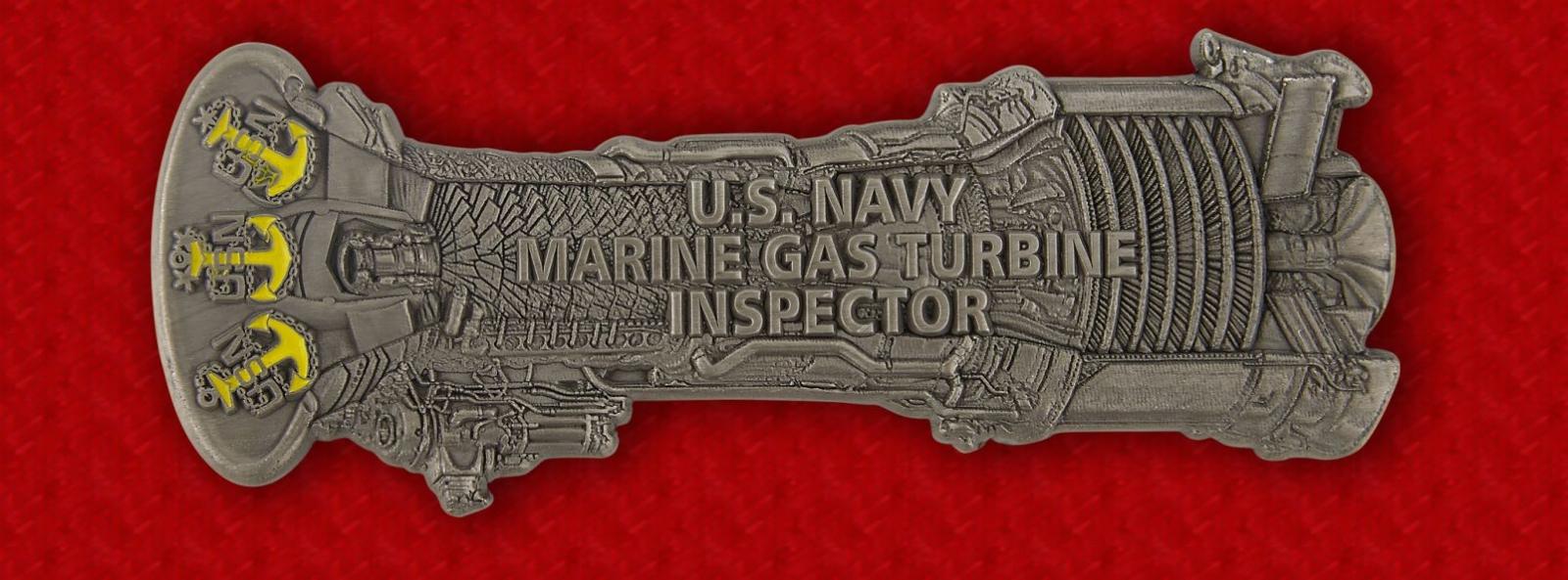 U.S. Navy Marine Gas Turbine Inspector Challenge Coin