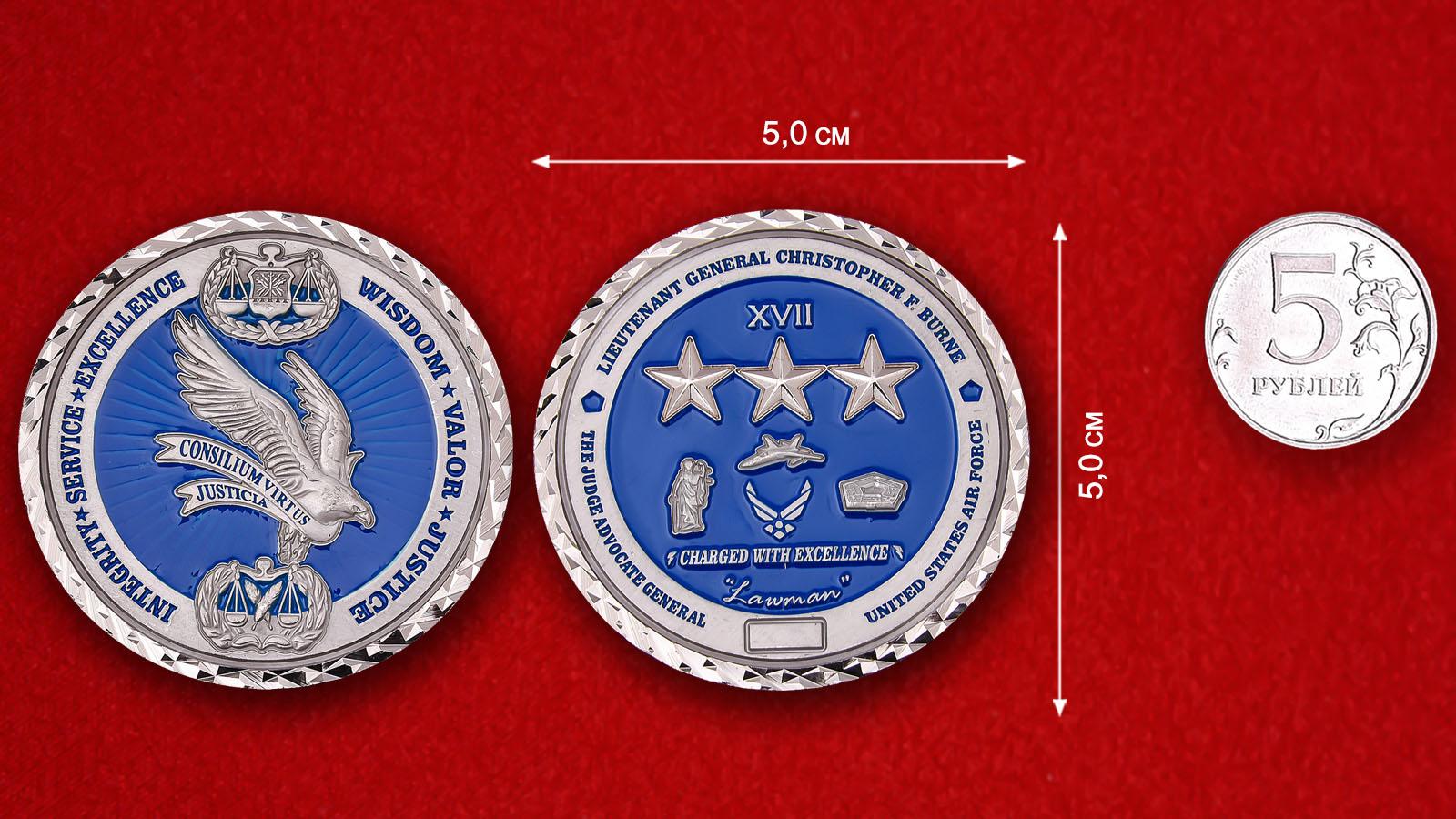 USAF The Judge Advocate General Lt.-Gen. Christopher F. Burne Challenge Coin