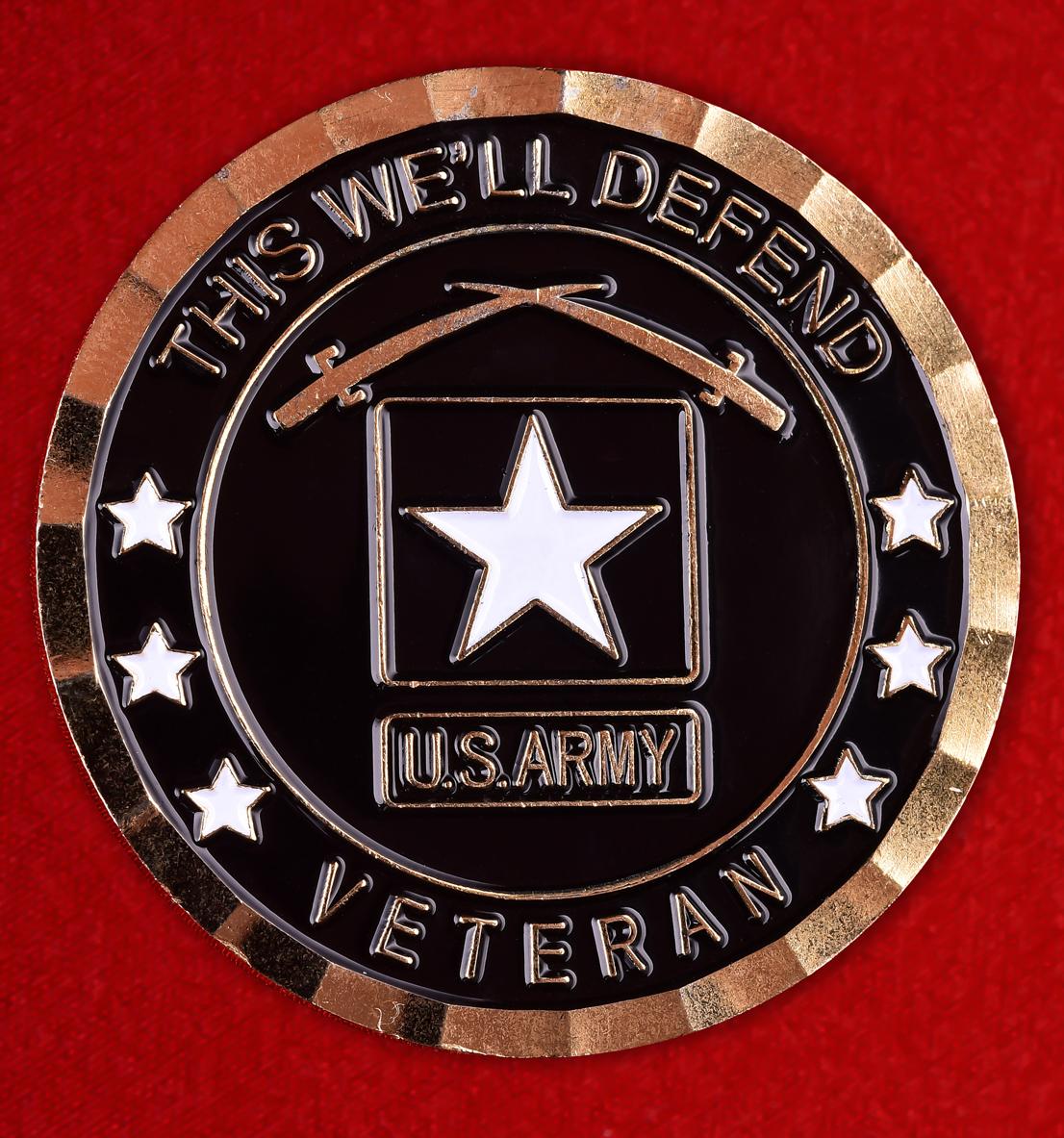 """Ветеранский знак Армии США """"За Кандагар. Операция Несокрушимая свобода"""