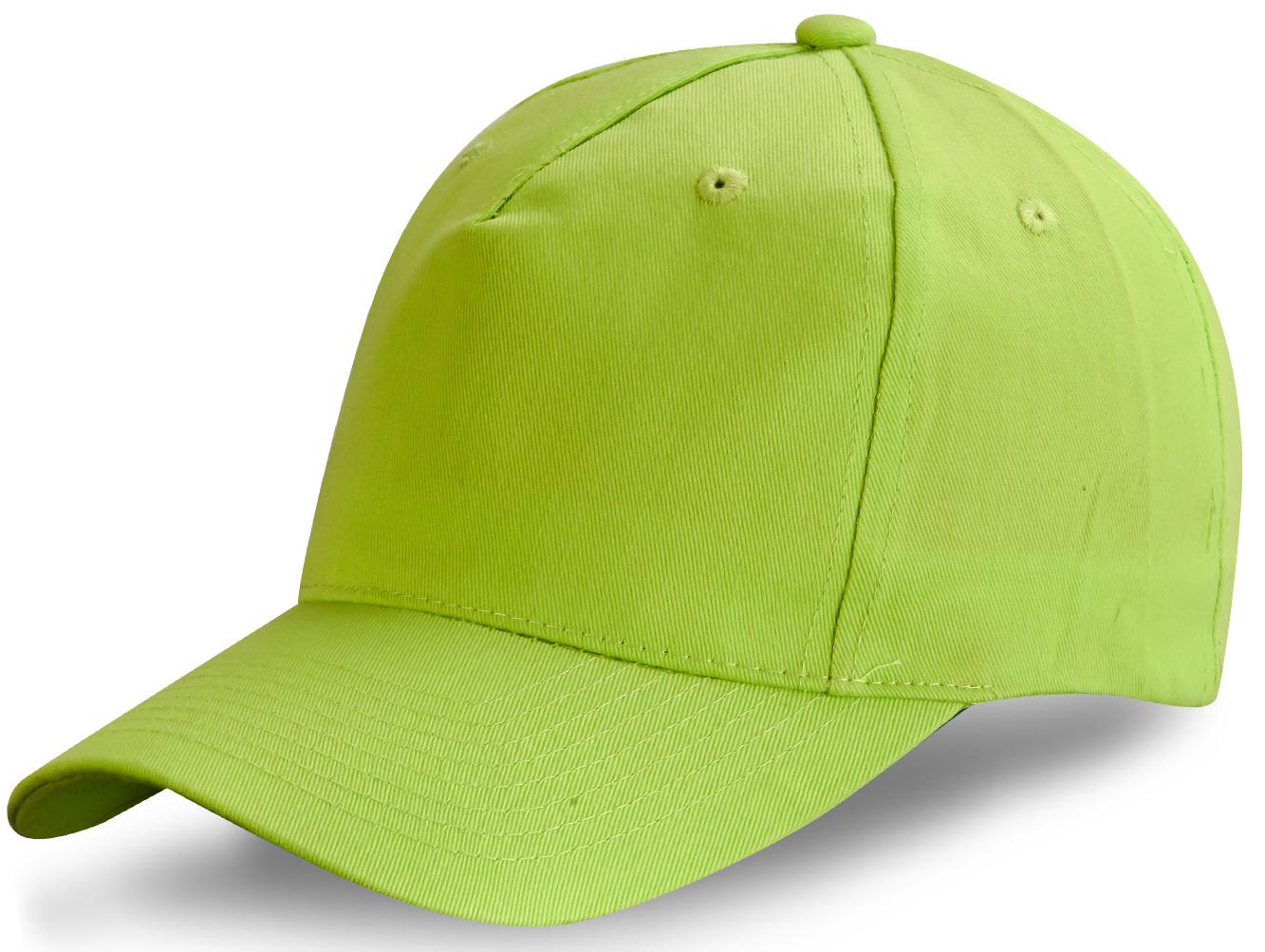 Яркая зеленая бейсболка - купить в интернет-магазине с доставкой