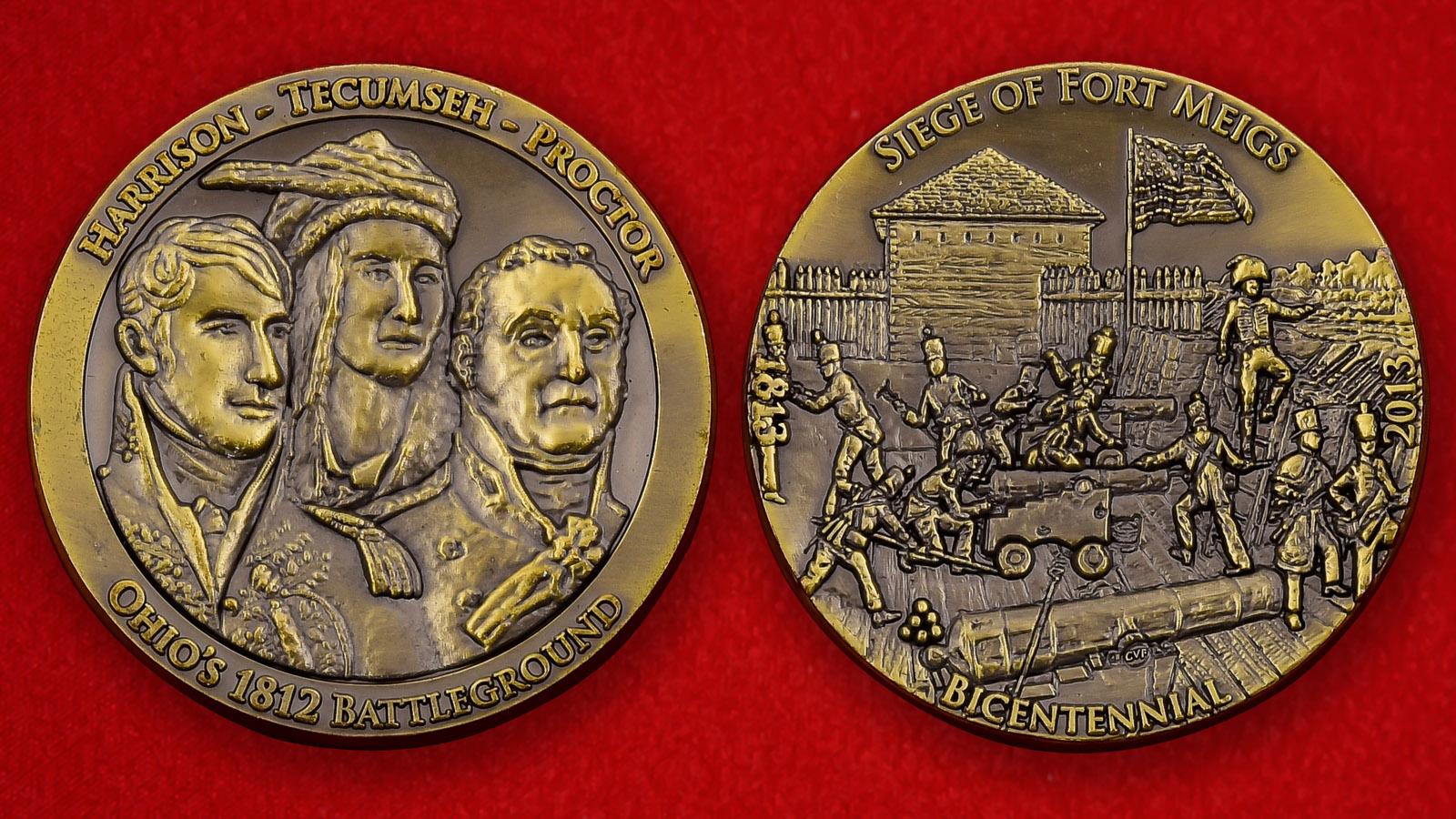 Юбилейная монета США к 200-летию осады Форта Мейгс