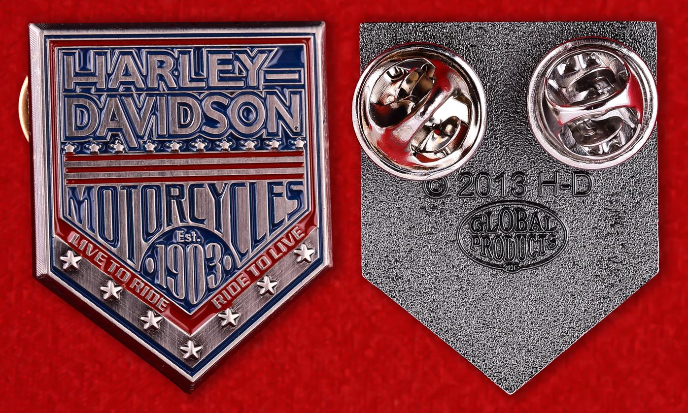 Юбилейный значок к 100-летию Харлей-Дэвидсон