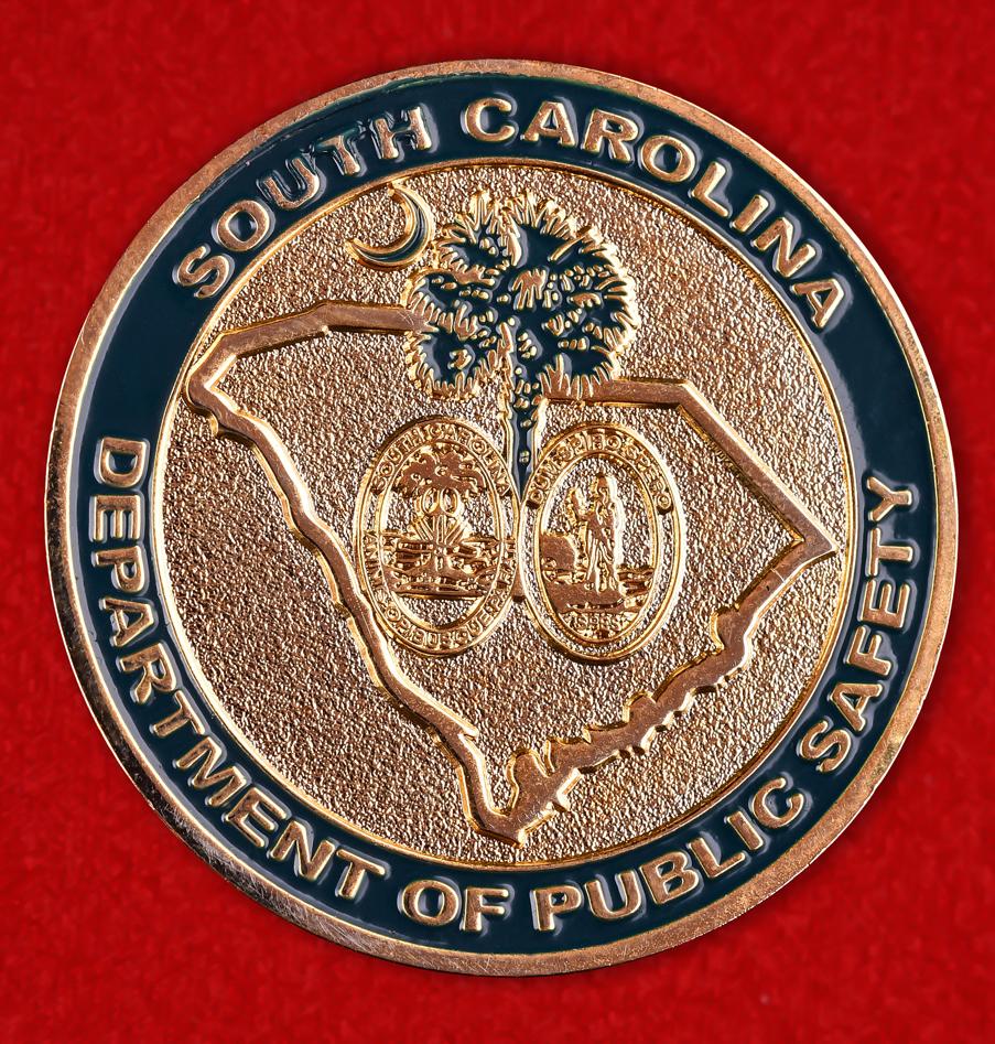 """Юбилейный знак """"Отдел транспортной полиции Департамента Общественной Безопасности Южной Каролины"""""""