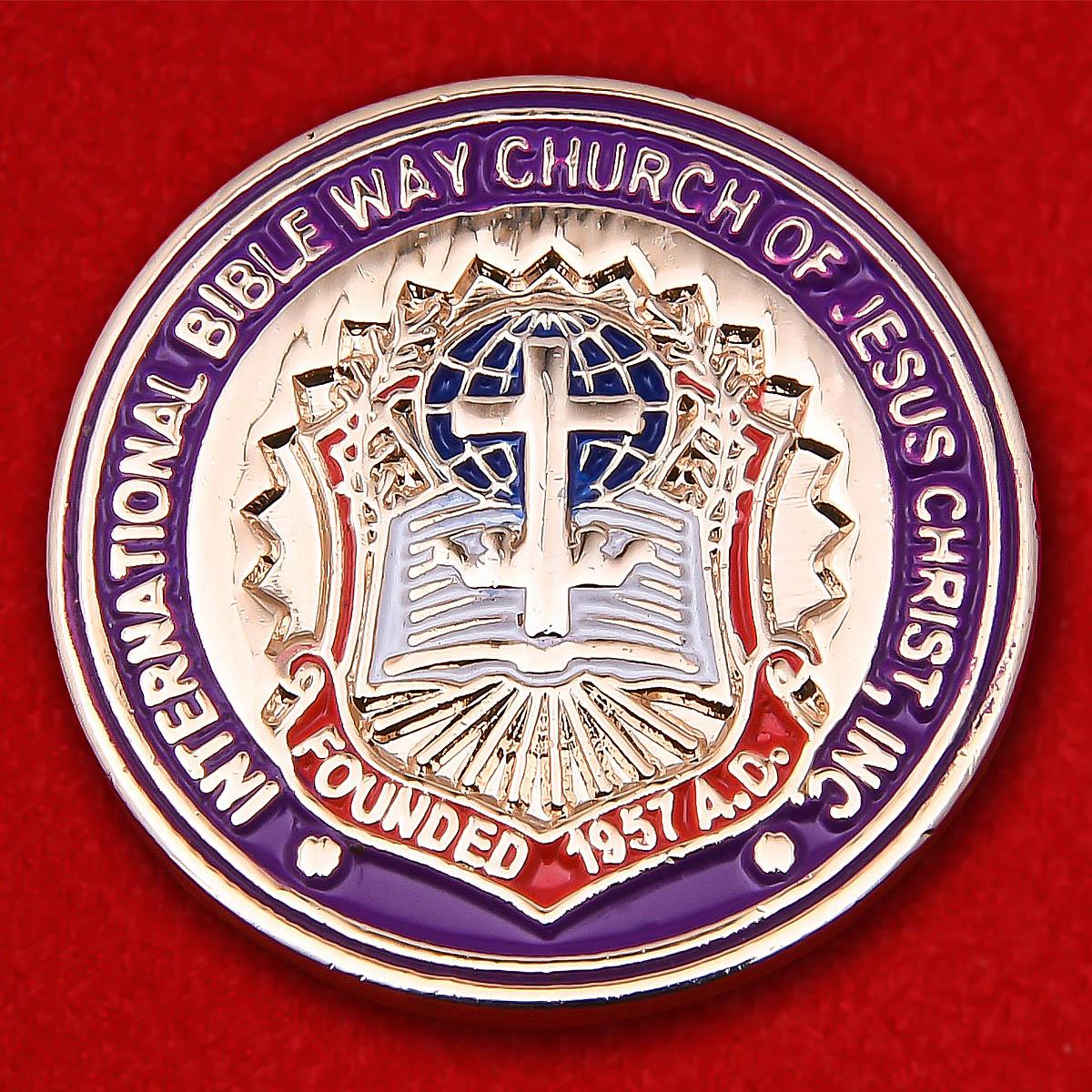 """Запонки Международной церкви Иисуса Христа """"Библейский путь"""""""