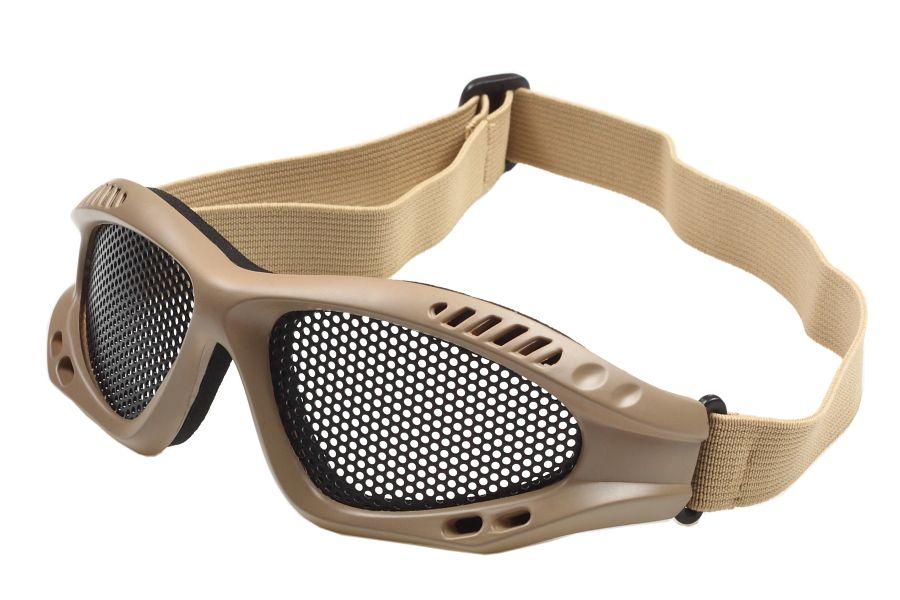 Защитные очки Goggle хаки-песок (сетка)
