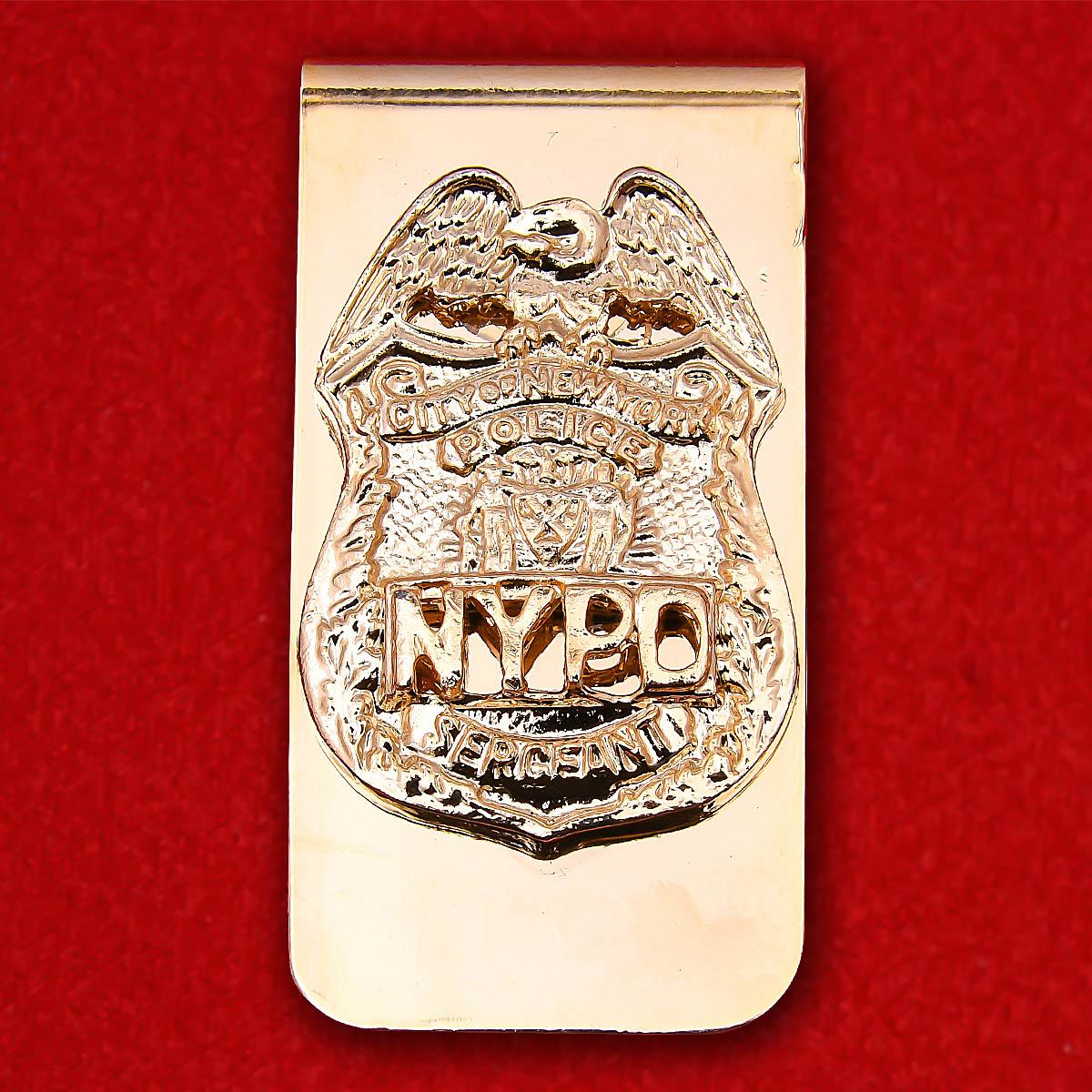 """Зажим для денег """"Сержант полиции Нью-Йорка"""""""