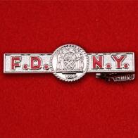 """Зажим для галстука """"Пожарная охрана Нью-Йорка"""" (серебряный)"""