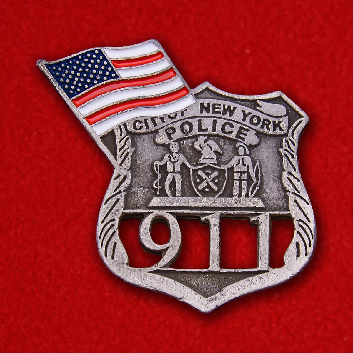 """Жетон полиции Нью-Йорка """"В память об 11 сентября"""""""