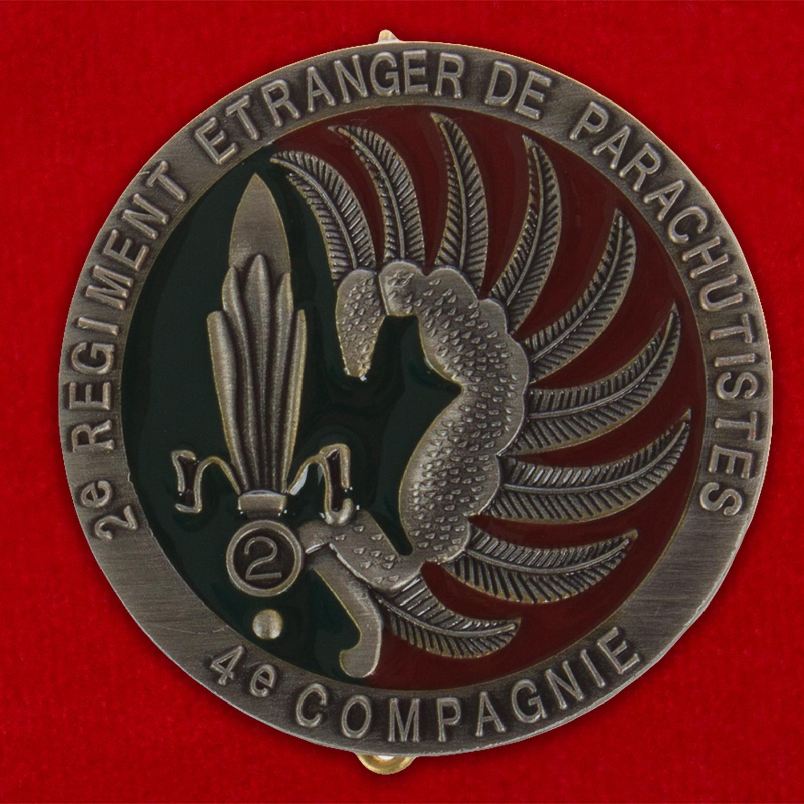 Нагрудный знак 4-й роты 2 REP Французского Легиона