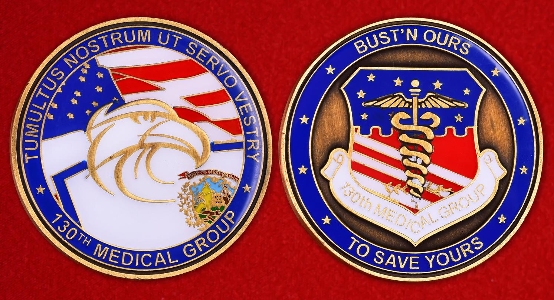 """Значок армии США """"130-я медицинская группа"""""""