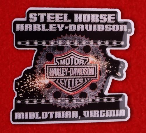 "Значок байкеров США ""Харлей-Дэвидсон, Мидлтаун, Виргиния"""