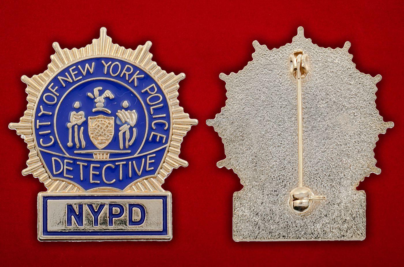 Значок детектива полиции Нью-Йорка - аверс и реверс