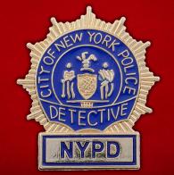 Значок детектива полиции Нью-Йорка
