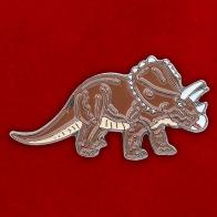 """Значок """"Динозавр Трицератопс"""""""