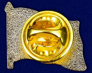 Значок ДНР с гербом - оборотная сторона