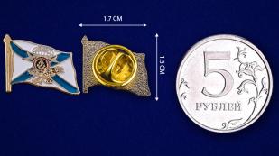 Значок ДШБ МП - сравнительный размер
