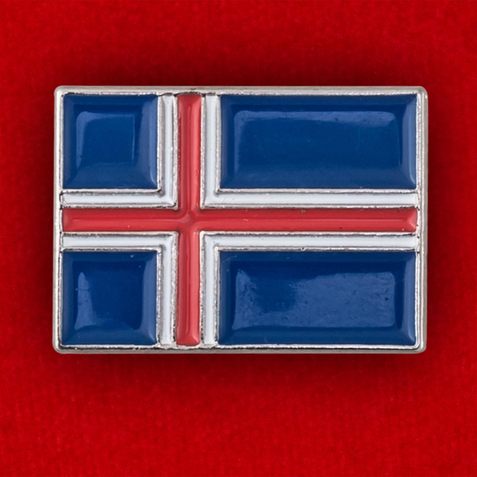 """Значок """"Флаг Исландии"""""""