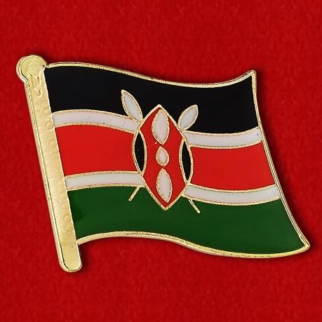 """Значок """"Флаг Кении"""""""
