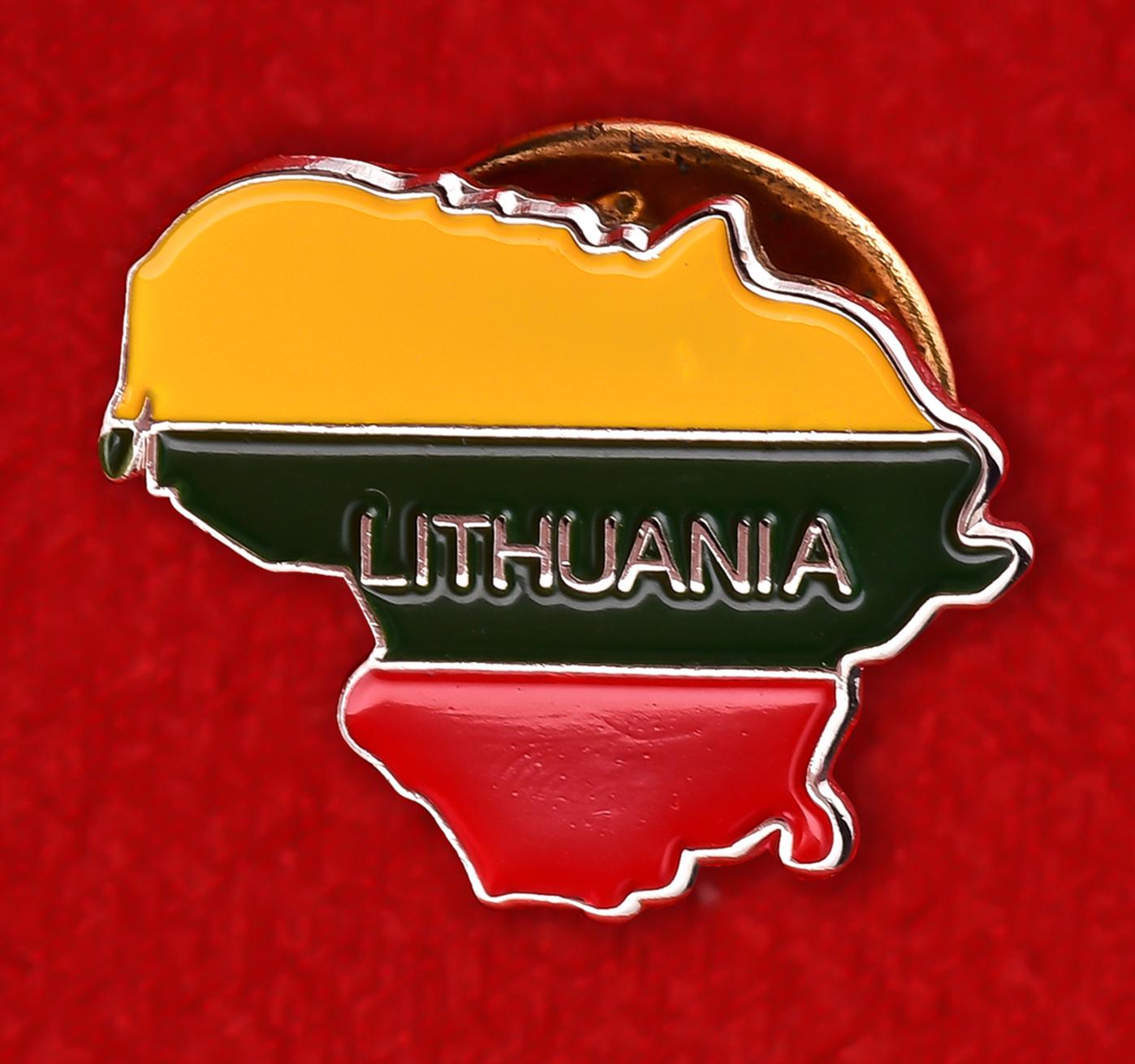 """Значок """"Флаг Литвы"""""""
