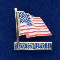 """Значок """"Флаг США Let's roll!"""""""