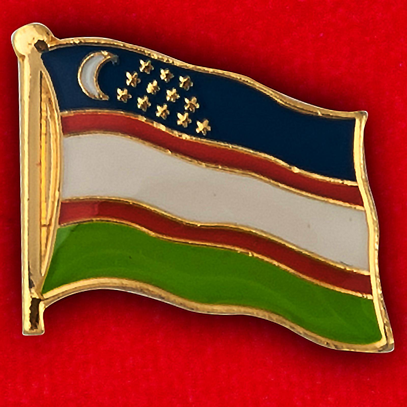 """Значок """"Флаг Узбекистана"""""""