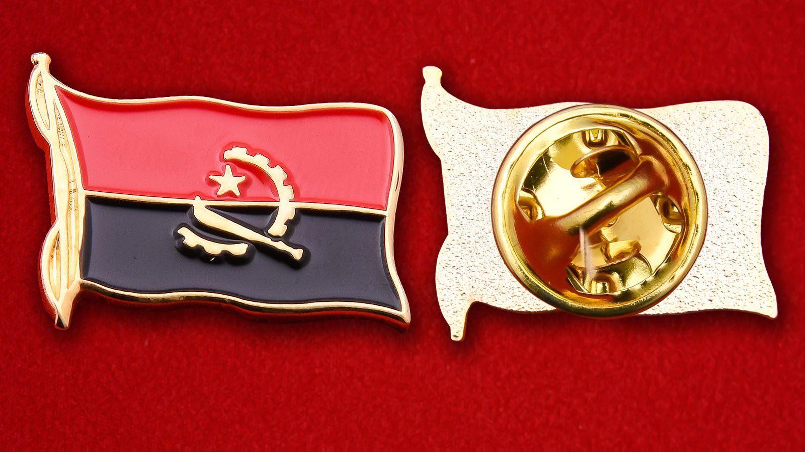 Значок Флага Анголы - аверс и реверс