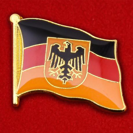 Значок Флага Германии с гербом
