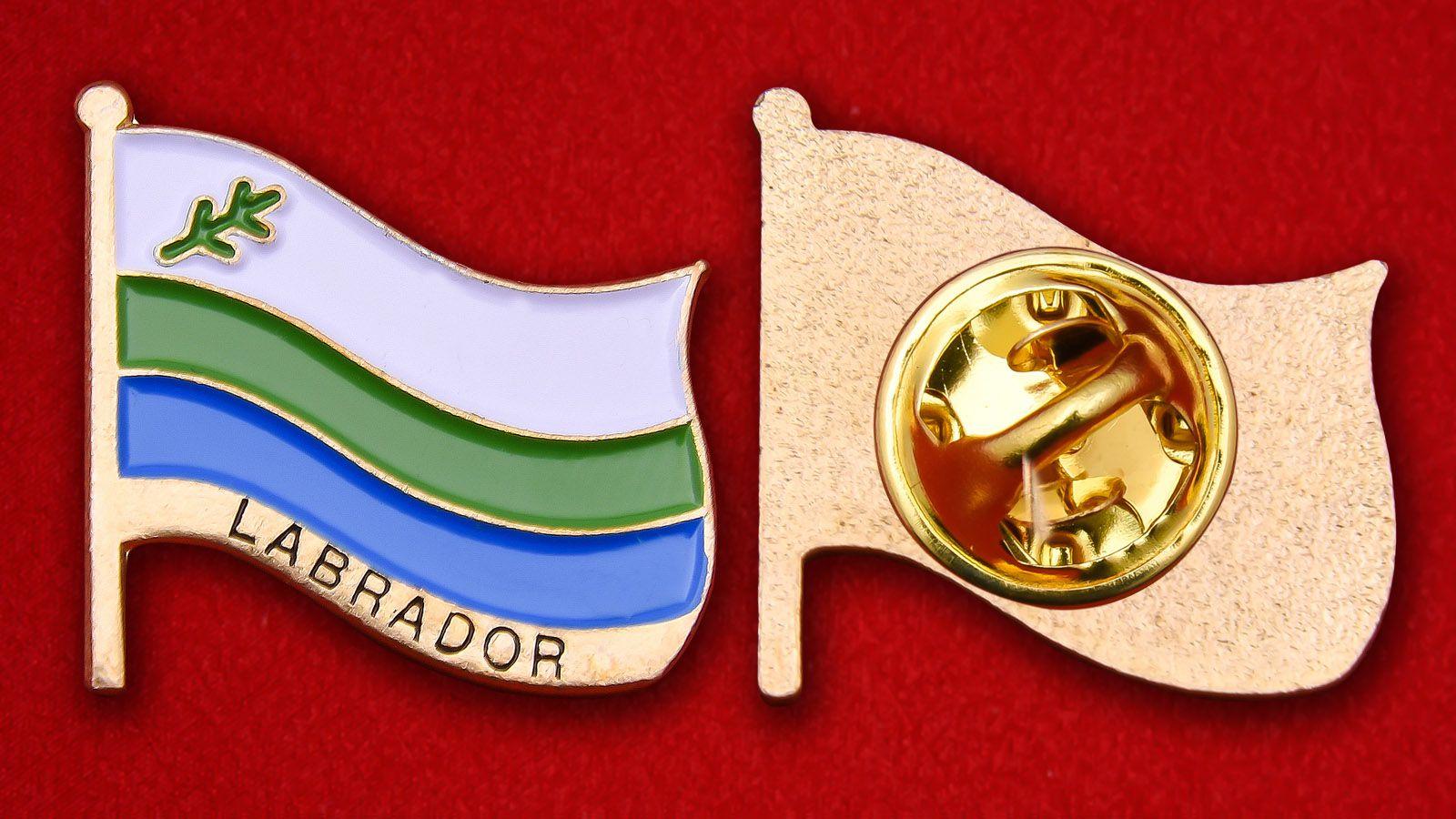 Значок Флага Лабрадора - аверс и реверс