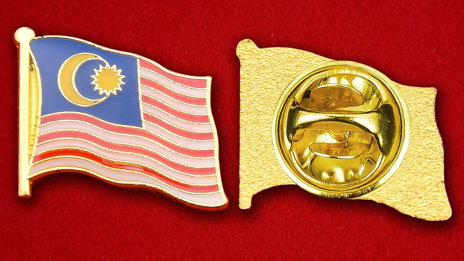 Значок Флага Малайзии - аверс и реверс