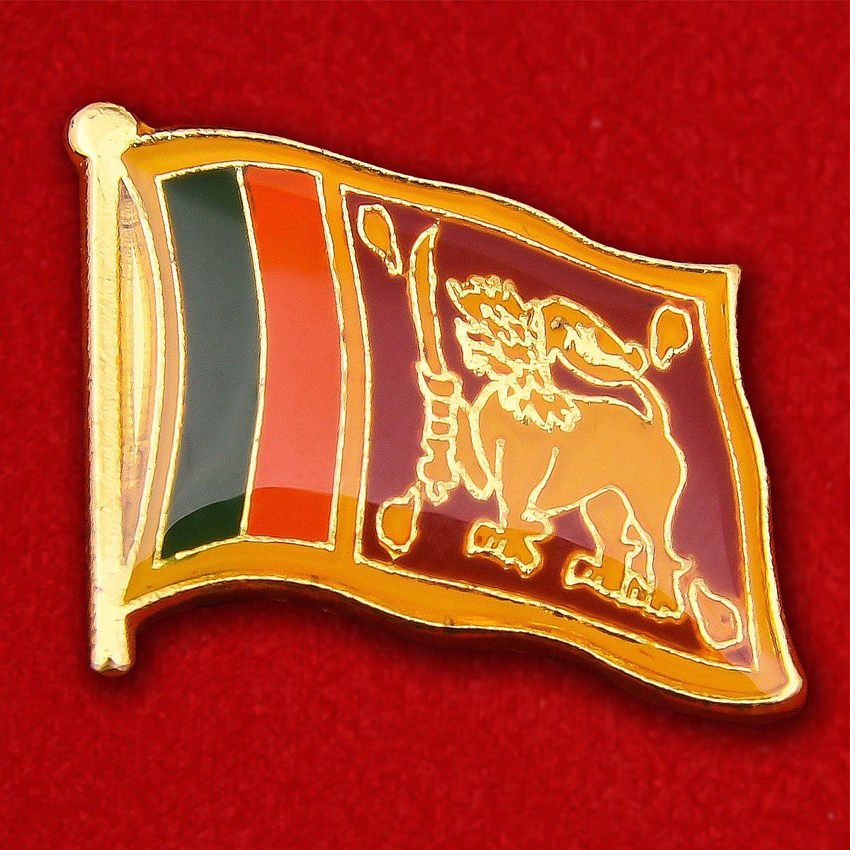 Значок Флага Шри-Ланки