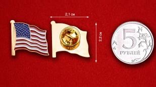 Значок Флага Соединённых Штатов Америки - сравнительный размер