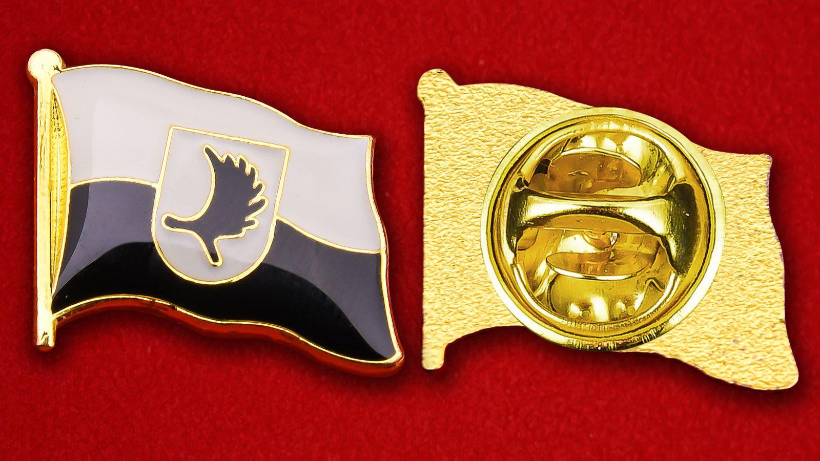Значок Флага Восточной Пруссии - аверс и реверс