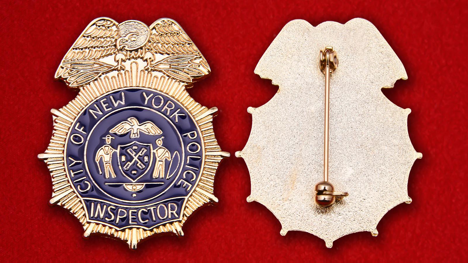 """Значок """"Инспектор полиции Нью-Йорка"""""""